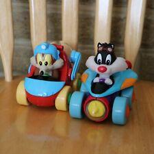 Warner Bros Looney Tunes Baby Wile E Coyote & Sylvester Self Winding Car - 1998