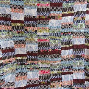 Patchwork Handmade Cotton Kantha Quilt Bedspread Vintage Blanket Bedcover Throw