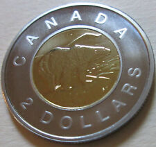 2002 Canada PROOF Toonie Two Dollar Coin. UNC. NICE GRADE 9D315)