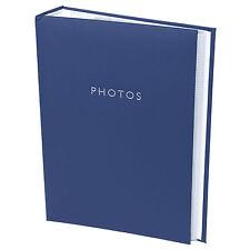 """Classique en cuir synthétique bleu album photo 300 photos 6"""" x 4"""" picture book"""