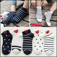 5Pairs Cotton Cute Red Heart Ankle Socks Short Sock Kawaii Funny Lover Gril Sock