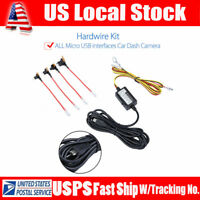 4m Cable Hard Wire Kit 12V-5V Power Adapter Micro USB for 0906 Car Dash Camera