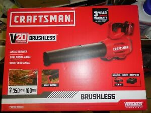 CRAFTSMAN 100 MPH 20-Volt Electric Leaf Blower (Battery Included)