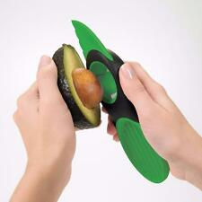 3-in-1 Avocado Slicer Green Plastic Splits Slices Blade Pitter Kitchen Kit