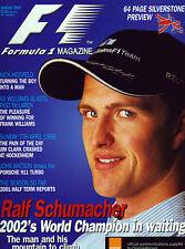 Formula 1 Magazine Aug 2001 - Ralf Schumacher, Jim Clark, McLaren M23, Senna