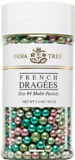 India Tree Multi Pastel Dragées Confectionery Beads Small Jar Size #4, 3.3 oz