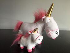 Despicable Me 2 Unicorn Plush White Pink Stuffed Animal + Mini Plush!