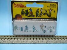 WOODLAND SCENICS N SCALE FIGURES - ROOFERS