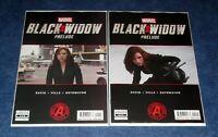 BLACK WIDOW prelude # & #2 (of 2) MOVIE Scarlett Johansson photo cover MARVEL NM