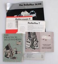 ROLLEIFLEX VINTAGE LITERATURE, SET OF 5