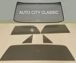 1964 1965 1966 1967 Chev El Camino Glass Windshield Vent Door Back Set Grey