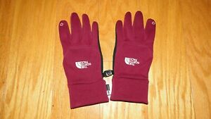 North Face E Tip Gloves Size M Youth Purple Plum U/R Powered