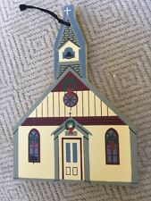 Cat's Meow 1996 Limited Ed Ornament, Christ Church, Christmas Wood Collectible