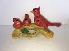 vintage artmark Ceramic redbirds on branch taiwan 6 1/2�
