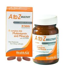 HEALTHAID A TO Z MULTIVIT 30 VEGETARIAN TABLETS - MULTIVITAMIN & MINERALS