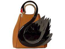 A-SHU Designer Style Novità Tan Brown Swan Borsa, 3D 2-WAY Borsone Borsa a mano, tracolla