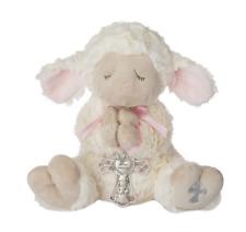 Ganz Serenity Lamb  w/ Crib Cross - Pink    Nice Christening or Baptism Gift