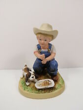 1985 Vintage Homco #1504 Denim Days Danny After Chores As Is Great Gift! S2 2.7
