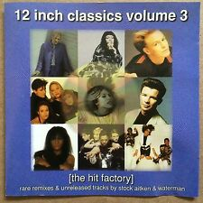 12 Inch Singles Volume 3 - The Hit Factory Stock Aitken & Waterman Rare CD OPP