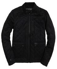 Superdry Men's Black City Microfibre Quilted Zip Jacket M50018RP