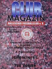 Programm 1999/00 HFC Hallescher FC - TSV Völpke