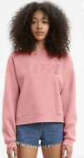 Levis Women's Pink Crewneck Sweatshirt SZ Small
