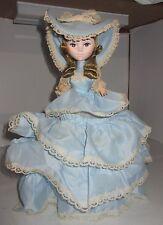 "Vintage Bradley Paper Mache Doll Big Eye Girl 11"" Happy Birthday Bl Musical Spin"