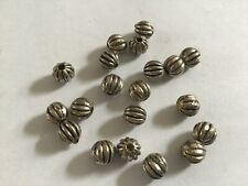 20 silver plated 6mm Tibetan silver round Melon spacer beads heavy antiqued