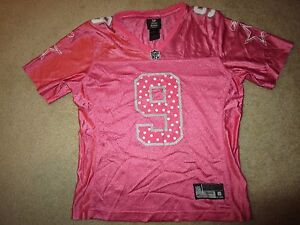 Tony Romo #9 Dallas Cowboys NFL Pink Reebok Jersey Womens S SM Small