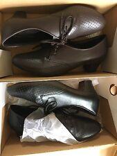Sofwear Ladies 8 1/2 Wide Black And Brown Low Heel Pumps Low Heel New In Box