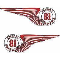 49 Hells Angels Support 81 aufkleber  Wings 2x (15cm) big red machine rocker