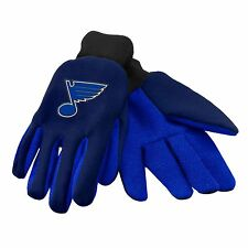 St. Louis Blues Gloves Sports Logo Utility Work Garden NEW Colored Palm