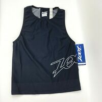 Zoot Womens Size M Ultra TX Triathlon Running Tank Top Black Sleeveless NWT