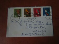 1963 CHILD WELFARE BIRD DESIGN FIRST DAY COVER FROM GERMANY