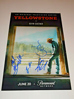 YELLOWSTONE CAST SIGNED AUTOGRAPHED 12X18 PHOTO POSTER GRIMES ASBILLE HAUSER +