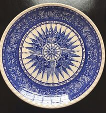 500th Anniversary PLATE Discovery 1492 Columbus Blue Compass EUC, NIKKO JAPAN