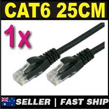 1 x 25cm 0.25m Black Cat 6 Cat6 1000Mbps Premium RJ45 Ethernet Network LAN Cable