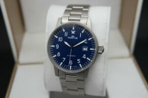 Fortis Flieger Pilot 25J Automatic Day/Date Blue Dial Gents Watch