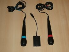 2 x Original Singstar Mikrofone + Adapter für Sony Playstation Ps2, Ps3, Ps4