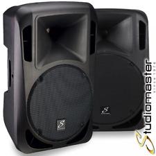 Pair Of Studiomaster Drive 12A 1200W Active Powered Full Range PA Speakers BNIB