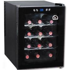 Wine Cooler Highest Rated and Beverage 12 Bottle Chiller Freestanding Fridge