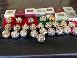 *WALLACE*SILVER PLATED CHRISTMAS BELLS COLLECTION -SELL INDIVIDUALLY OR COMPLETE