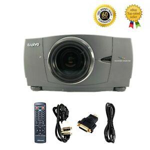 Sanyo PLV-80L LCD Projector WXGA 3000 ANSI HD 1080i HDMI-adapter w/Accessories