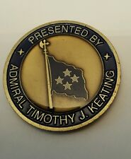 Commander US Pacific Command Timothy J Keating 4 Star Admirals Challenge Coin