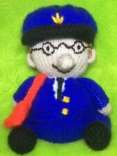 KNITTING PATTERN - Postman Pat inspired chocolate orange cover or 16 cms toy