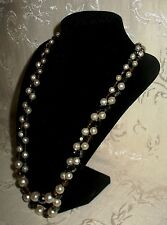 Sherman Jewels of Elegance - Script Signed Sherman Faux Pearl Necklace 24""