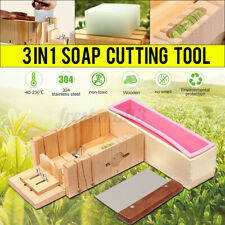 Wooden Handmade Silicone Mould Soap Mold Box Toast Loaf Cake Cutting Slicer AU