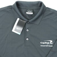 Nike Golf Men Large 47 Capital One Annual Golf Classic Polo Shirt Gray Polyester