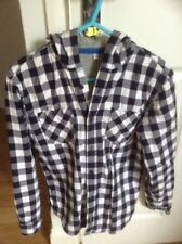 Boys M&S Hooded Shirt Size 11-12 Years