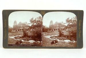 "Canadian Scenery Stereoview ""Iroquois Cottage, 1000 Islands"" Nerlich & Co ©1905"